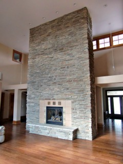 A view of the fireplace in the Great Room at the Universal Design Living Laboratory