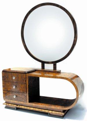 art deco vanity with mirror