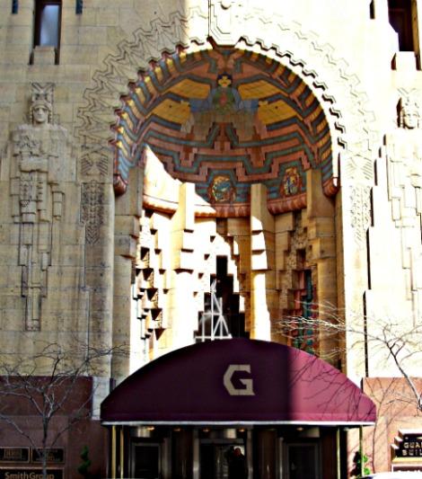 Art Deco Guardian Mayan Entrance