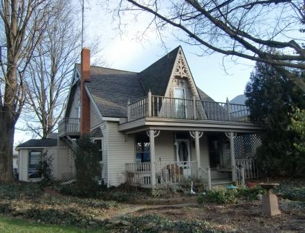 Another small Folk Gothic home in Zanesfield, OH